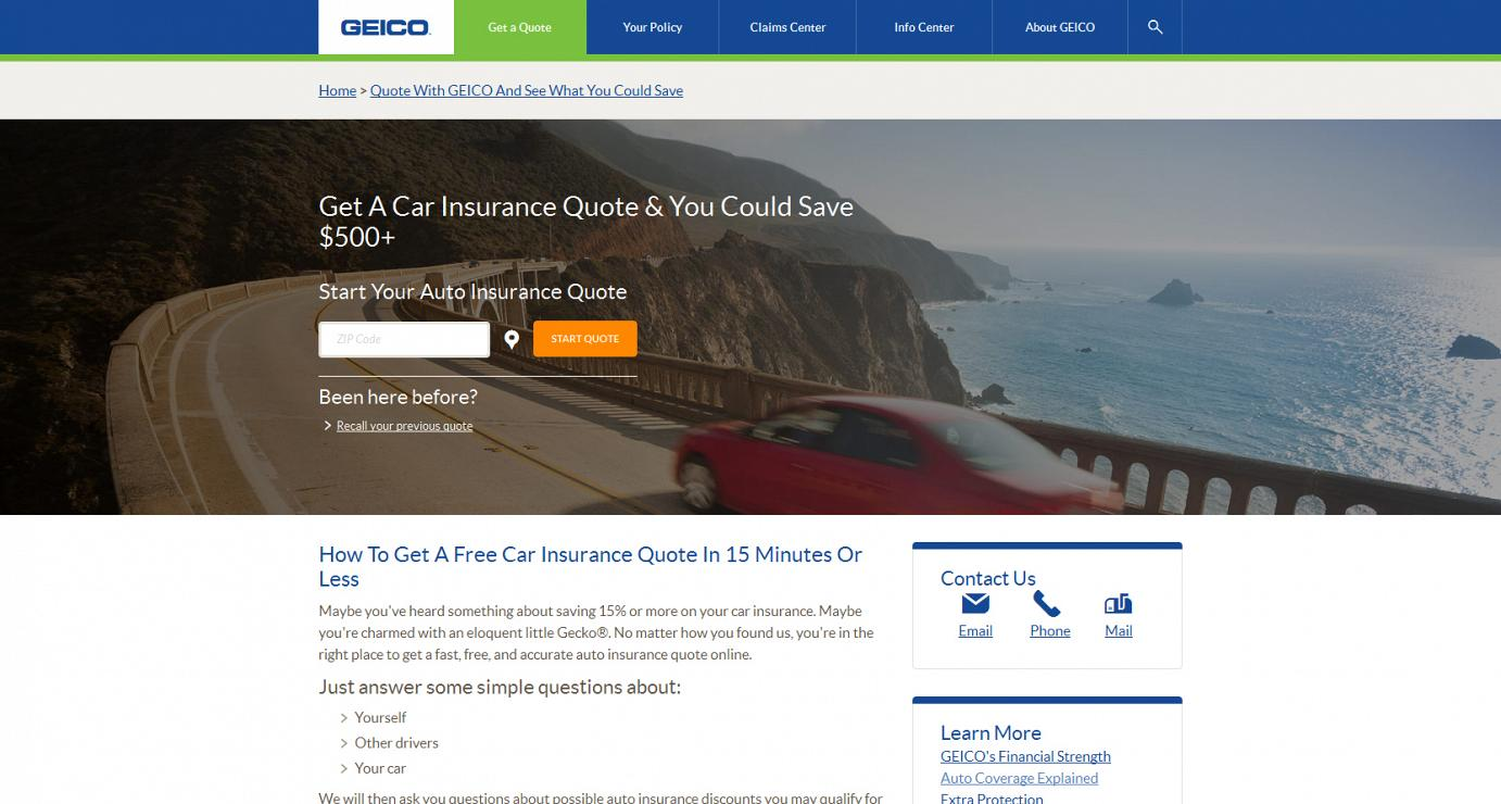 Www Geico Com Quote Geico Responsive  Brian Tgallagher