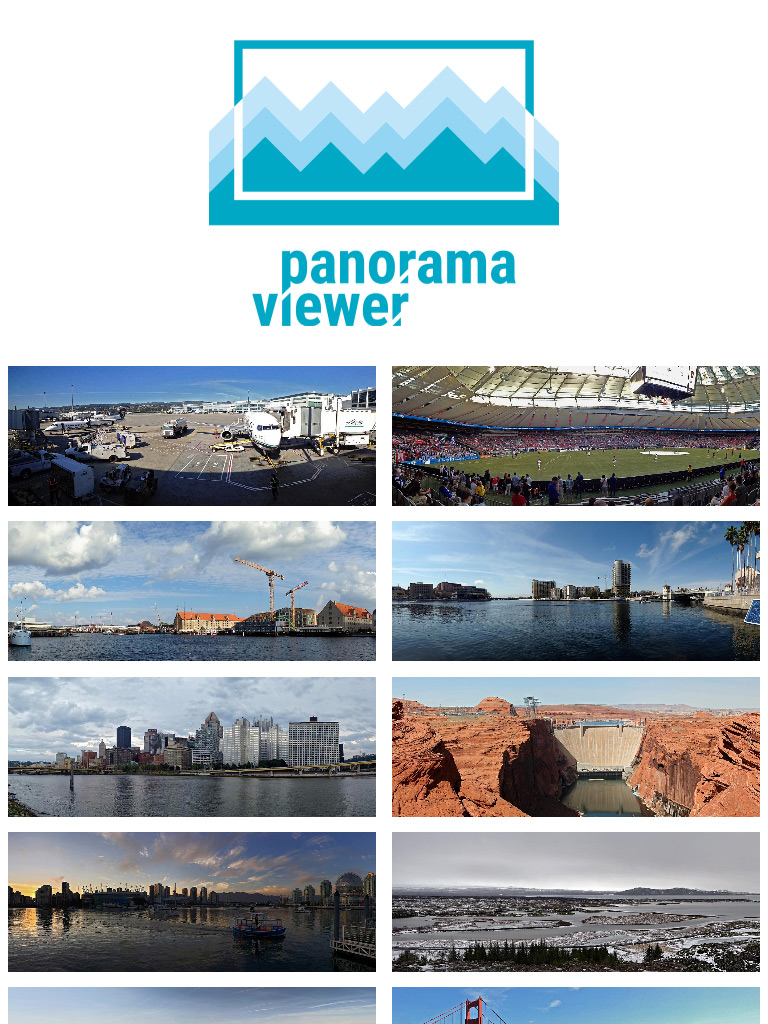 Screenshot of Panorama viewer on tablet